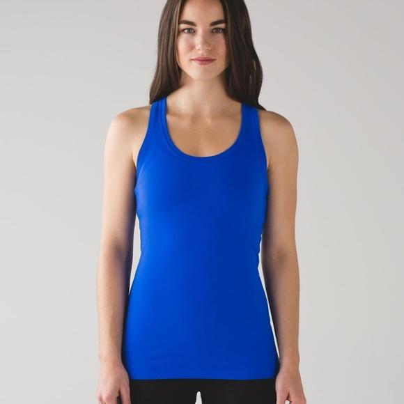 590bf526f7b11 lululemon athletica Tops   Lululemon Cool Racerback Ii Blue Size 2 ...